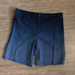 Boys Navy Blue Ombré Swim Trunks